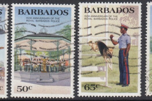 Barbados SG789-792 | 150th Anniversary of Royal Barbados Police (Used)