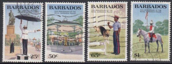 Barbados SG789-792 | 150th Anniversary of Royal Barbados Police (Used)