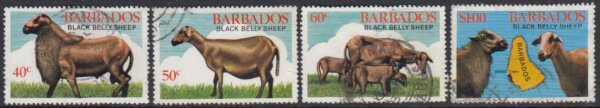 Barbados SG693-696 | Black Belly Sheep (Used)