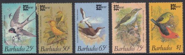 Barbados SG836-840 | Capex '87 Birds of Barbados (Used)