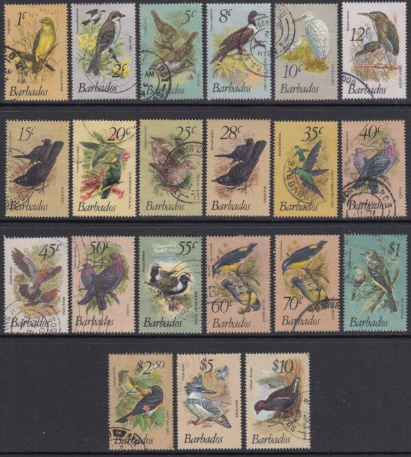 Barbados SG622-638   Birds of Barbados Definitives 1979-83 (Used)