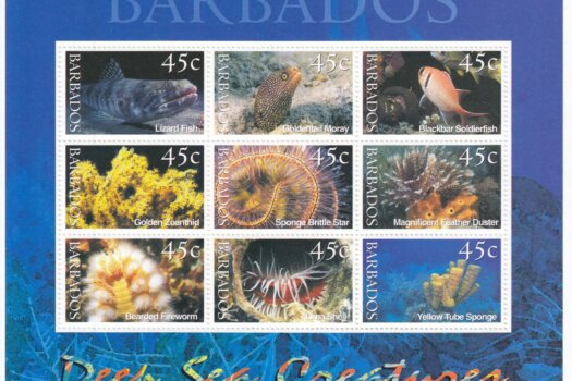 Barbados SG1180-1188 | Deep Sea Creatures Souvenir Sheet