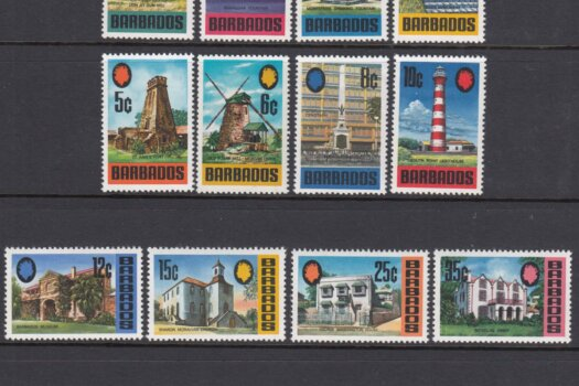 Barbados SG399-414 | Landmarks of Barbados Definitives 1970-71