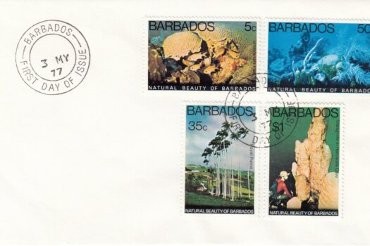 Barbados 1977 | Natural Beauty of Barbados on plain FDC