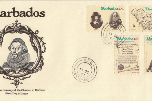 Barbados 1977 | 350th Anniversary of the Granting of the Charter to Carlisle FDC (GPO CDS Cancel)