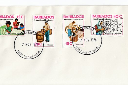 Barbados 1978 | Industries of Barbados on plain FDC