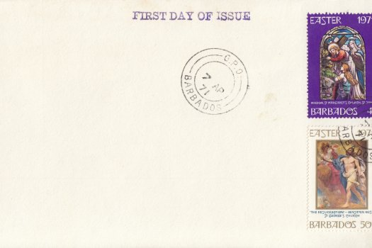 Barbados 1971 | Easter on plain FDC