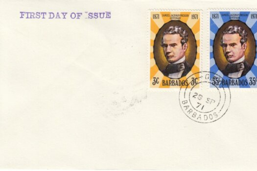 Barbados 1971 | Death Centenary of Samuel Jackman Prescod on plain FDC