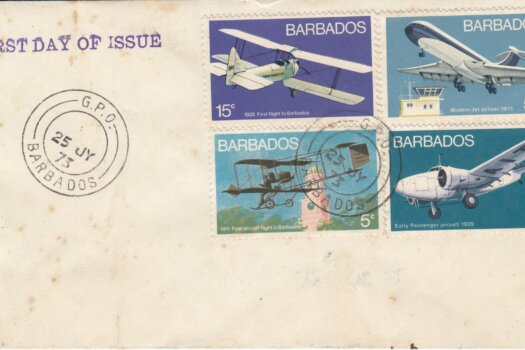 Barbados 1973 | Aviation on plain FDC