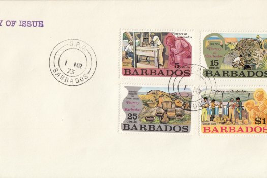 Barbados 1973 | Pottery in Barbados on plain FDC