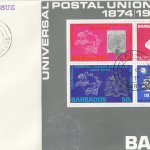Barbados 1974 | Centenary of the UPU Souvenir Sheet on plain FDC