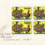 Barbados 1975 | Crop Over Festival Block of Four with plate numbers on plain FDC - 8c