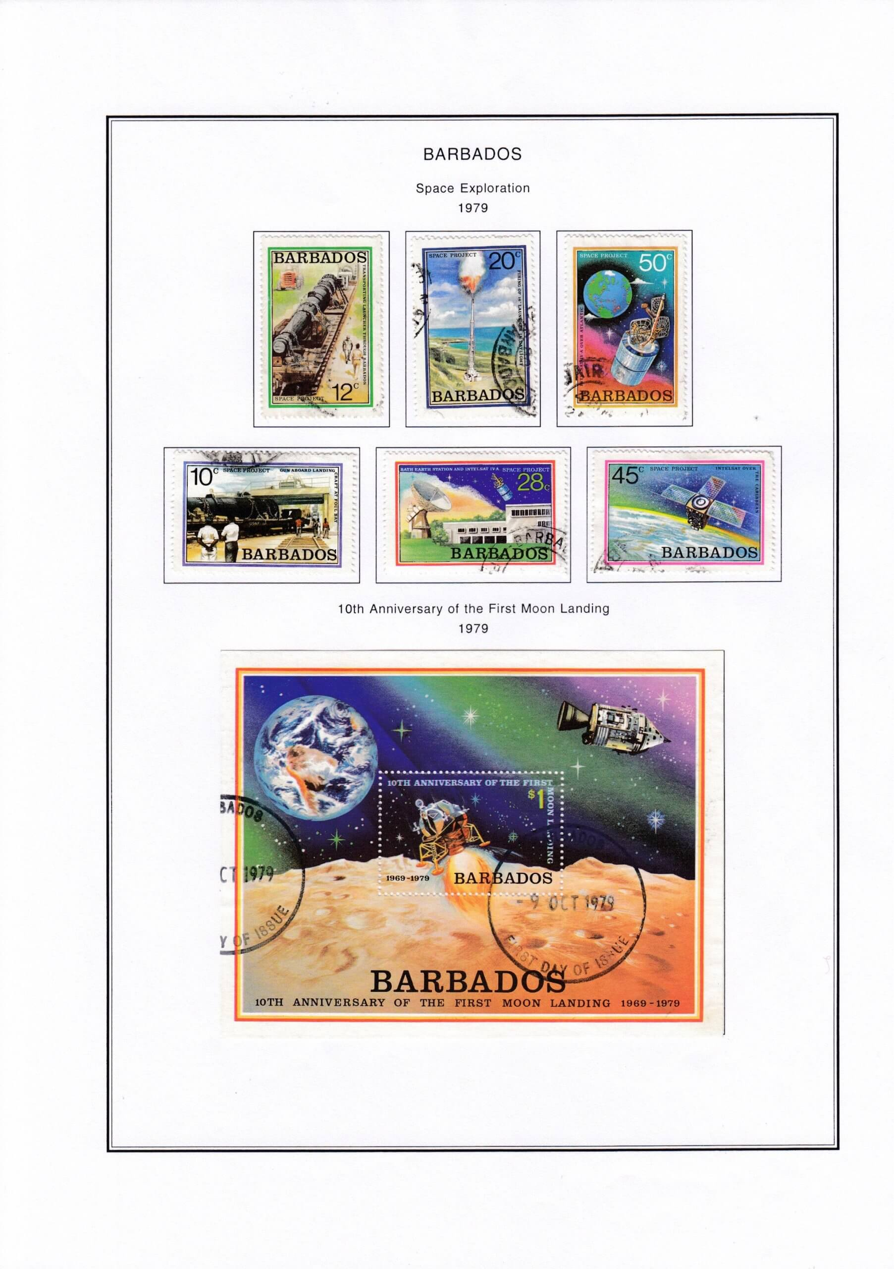 Using Steiner Pages to display your used Barbados stamps