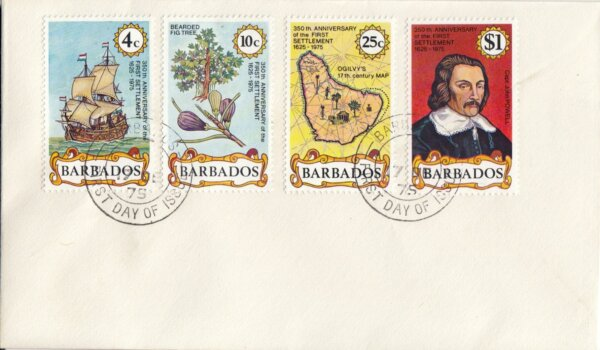 Barbados 1975 | 350th Anniversary of First Settlement FDC
