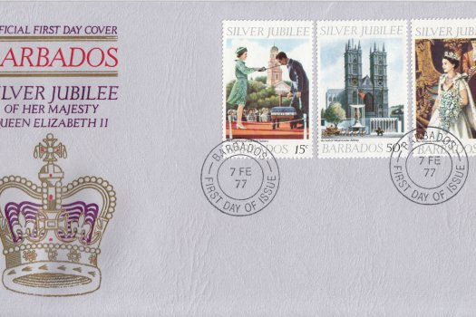 Barbados 1977   Silver Jubilee of QEII FDC