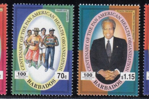 Barbados SG1222-1225 | Centenary of Pan American Health Organisation