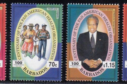 Barbados SG1222-1225   Centenary of Pan American Health Organisation
