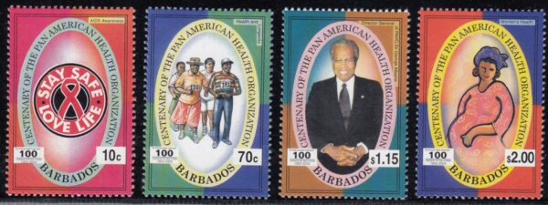 Barbados SG1222-1225 | Centenary of Pan American Health Organisation