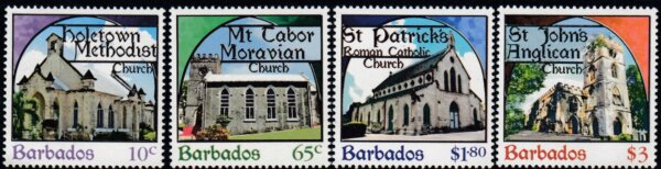 Barbados SG1400-1403   Places of Worship