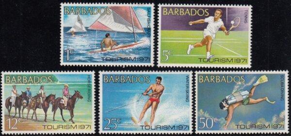 Barbados SG429 - 433 | Tourism