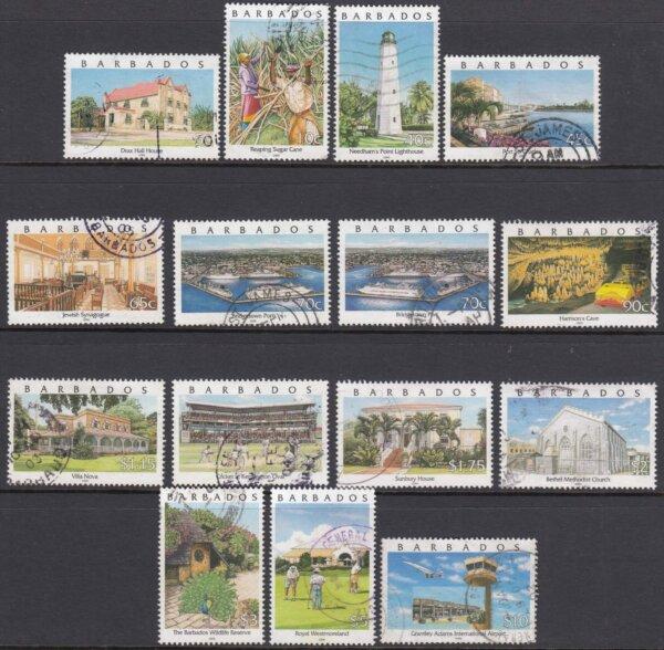 Barbados SG 1153-1166| Pride of Barbados Definitive set (Used)