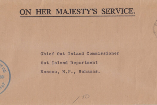 Bahamas 1960 | OHMS cover from Commissioners Office with Sandy Point CDS