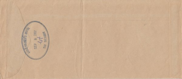 Bahamas 1967 | OHMS cover from Commissioners Office San Salvador (reverse)