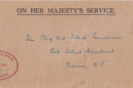 Bahamas 1961 | OHMS cover from Commissioners Office Inagua with CDS