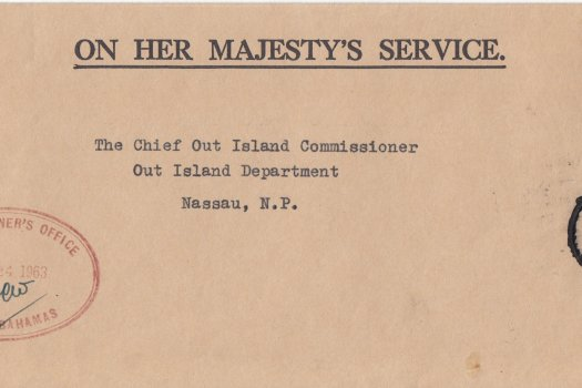 Bahamas 1963 | OHMS cover from Commissioners Office Inagua with CDS (2)