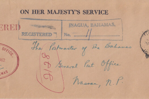 Bahamas 1962 | OHMS Registered cover from Commissioners Office Inagua with CDS