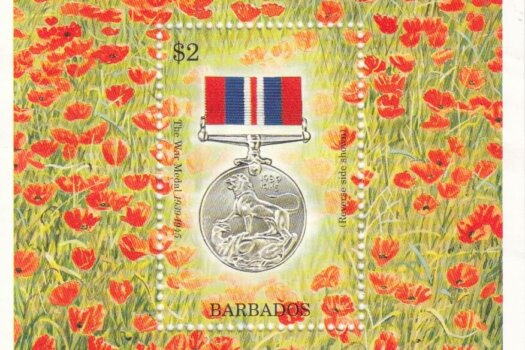 Barbados SGMS1052 | 50th Anniversary of the end of Second World War Souvenir Sheet