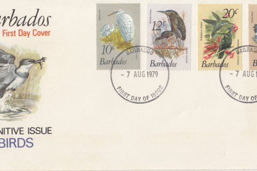 Barbados 1979 Birds Definitives FDC - illustrated cover (4)