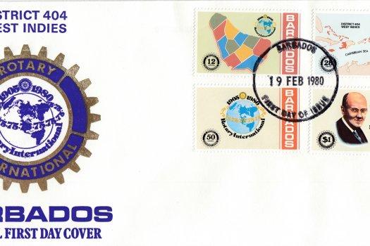 Barbados 1980 | 75th Anniversary of Rotary International FDC