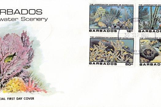 Barbados 1980 | Underwater Scenery of Barbados FDC