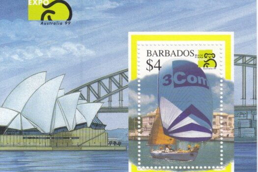 Barbados SGMS1133 | Australia '99 World Stamp Exhibition Sailing Ship Souvenir Sheet