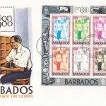 Barbados 1980 | London 1980 International Stamp Exhibition Souvenir Sheet FDC (2)