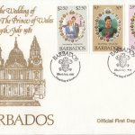 Barbados 1981 | Royal Wedding of HRH The Prince of Wales FDC