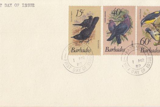 Barbados 1982 | Birds of Barbados (additional values) FDC