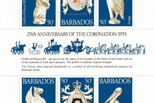 Barbados 597-599 | 25th Anniversary of Coronation Souvenir Sheet