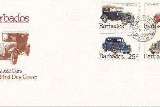 Barbados 1983 | Classic Cars FDC