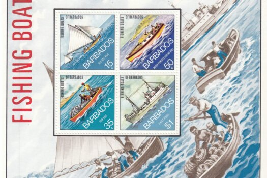 Barbados SGMS484 | Fishing Boats of Barbados Souvenir Sheet