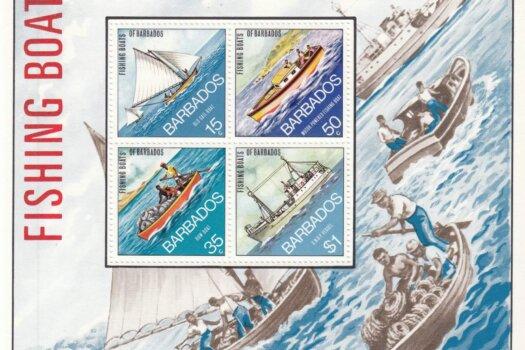 Barbados SGMS484 | Fishing Boats of Barbados Souvenir Sheet