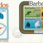 Barbados 1984 | Olympics 1984 Souvenir Sheet FDC