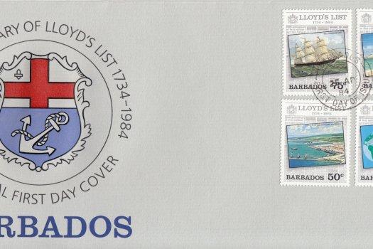 Barbados 1984 | 250th Anniversary of Lloyd's List FDC
