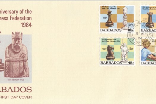 Barbados 1984 | 60th Anniversary of the World Chess Federation FDC