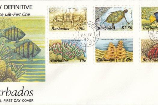 Barbados 1985 | Marine Life Definitives FDC Part 1