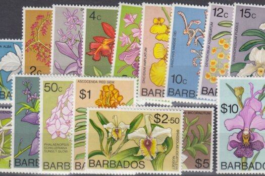 Barbados SG485-500 | Orchids of Barbados Definitives 1974-77
