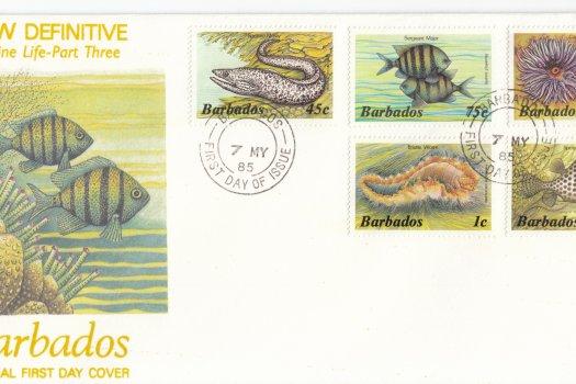 Barbados 1985 | Marine Life Definitives FDC Part 3