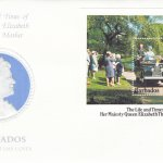 Barbados 1985 | The Life and Times if H.M. Queen Elizabeth the Queen Mother Souvenir Sheet FDC