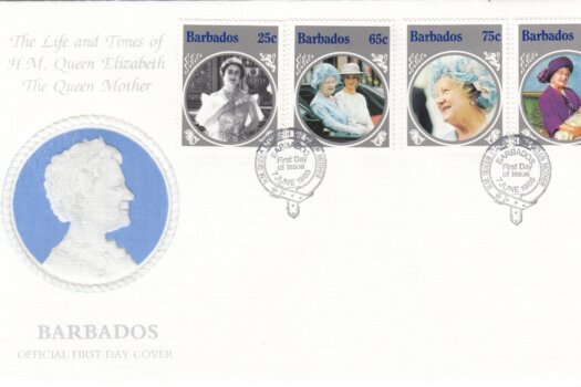 Barbados 1985 | The Life and Times if H.M. Queen Elizabeth the Queen Mother FDC